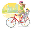 stock-illustration-20935018-mother-and-baby-riding-bicycle